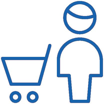 Einkaufswägen für Senioren oder mit Babyschale